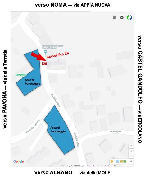 Mappa dettagliata luogo evento Servizio Selfie PRO